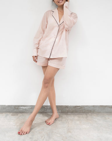 Blush pink cotton pyjamas (Prices in AUD)