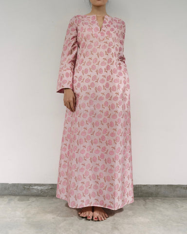 Carnation Silk Caftan (Prices in AUD)