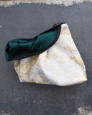 Beach Clutch Gold and Silver
