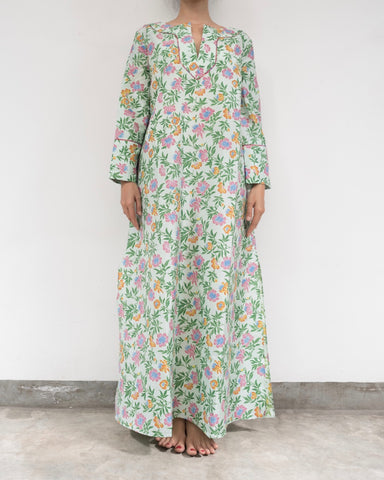 Flower Garden Silk Kaftan (Prices in AUD)