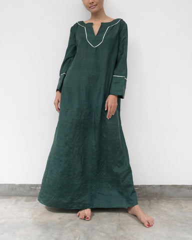 Emerald Green Silk Kaftan (Prices in AUD)