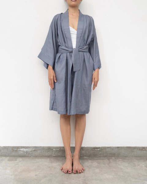 Grey Silk Robe (Prices in AUD)
