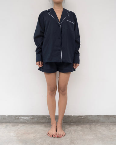 Midnight navy/ Black cotton pyjamas (Prices in AUD)
