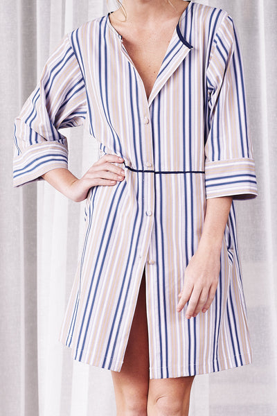 Striped Swimsuit Coverup