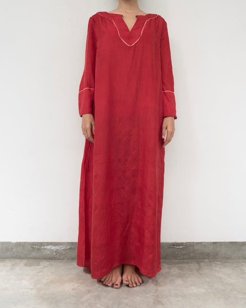 Red Silk Kaftan (Prices in AUD)