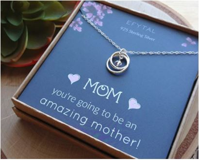 silver necklace, infinity necklace, you're going to be an amazing mother