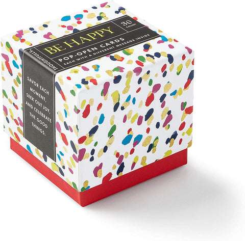 pop open cards, colorful box, be happy