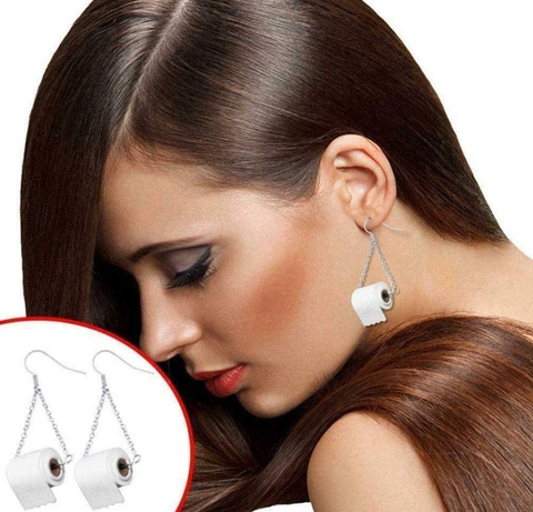Toilet Paper Earrings | Most Unique April Fool's Day Gifts