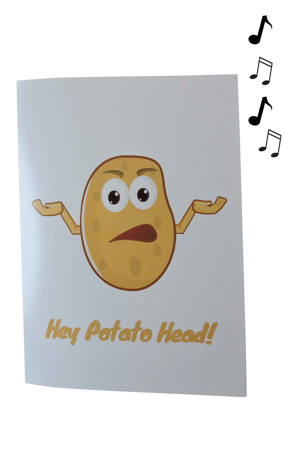 "Potato Parcel Endless ""Potato Song"" Card w/ Glitter"