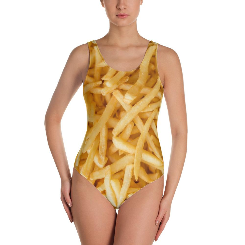 Potato Parcel Fries One-Piece Swimsuit XS