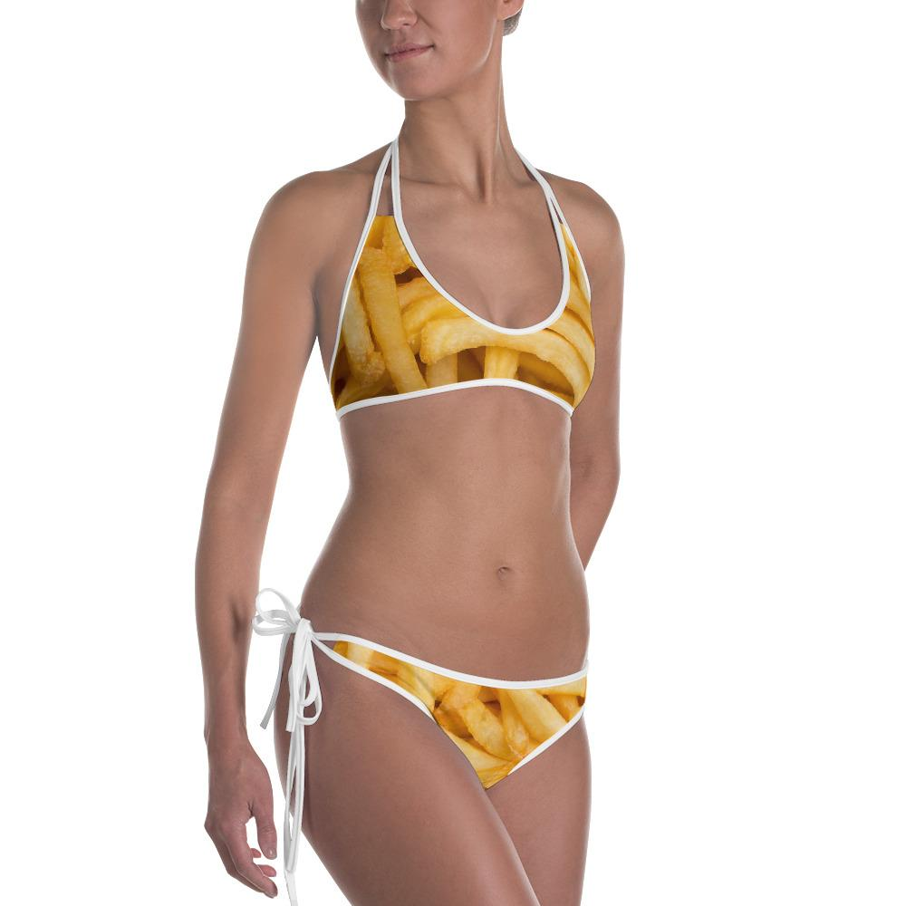 Potato Parcel Fries Two-Piece Bikini White / XS
