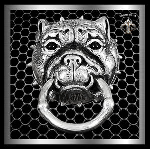 Sterling Silver Bulldog Wallet Chain Connector - Sinister Silver Co. Collections