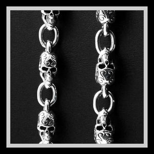 Sinister Silver Co. 925 Sterling Silver Skull Necklace Collection