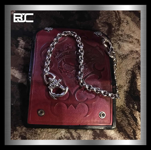 Biker Wallet Chains Handcrafted 925 Silver