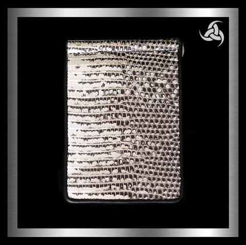 PREMIUM Minimalist Bifold Money Clip Wallet Mens Monitor Lizard Front Pocket Carry - Sinister Silver Co.