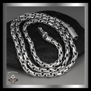 Bali Sterling Silver Biker Necklace Viking Rope Chain 1 - Sinister Silver Co.