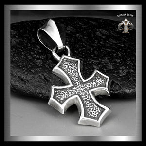 Heavy Sterling Silver Maltese Biker Cross Pendant 1 - Sinister Silver Co.