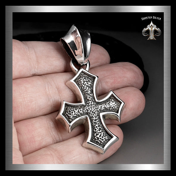 Heavy Sterling Silver Maltese Biker Cross Pendant 2 - Sinister Silver Co.