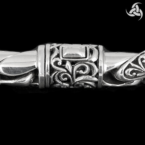 Sterling Silver Viking Links Mens Biker Bracelet - Sinister Silver Co.