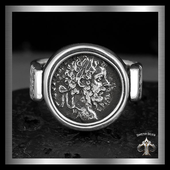 Septimius Severus Ancient Roman Coin Replica Ring In Sterling Silver 1 Sinister Silver Co.