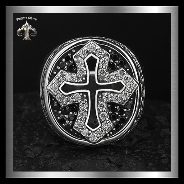 Sterling Silver 35 Gram Medieval Biker Knights Cross Ring 4 - Sinister Silver Co.