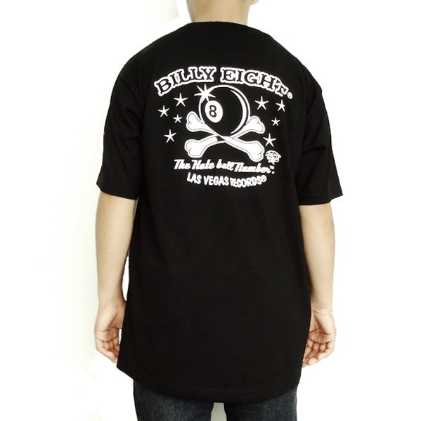 Large Black Billy Eight Ball Rockabilly Rat Rod Mens T Shirt - Sinister Silver Co.