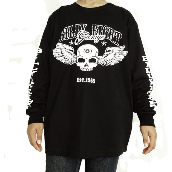 Mens Long Sleeve Biker Billy Eight Ball XL By Apocalyptic Fashion