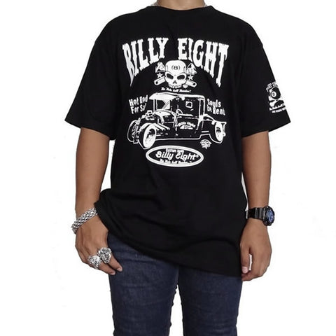 X-Large Black Billy Eight Garage Rat Rod Rockabilly T Shirt