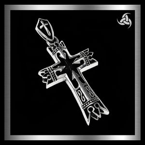 Medieval Renaissance Bishop Or Knights Cross Pendant Sterling Silver Jewelry At Sinister Silver Co.
