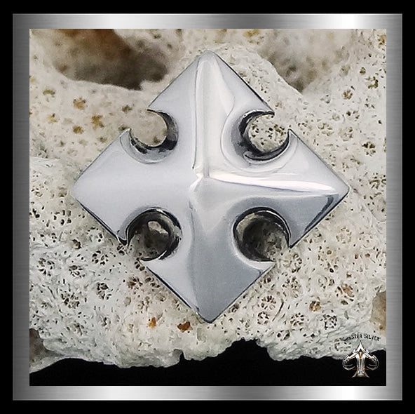 Maltese Cross Concho Sterling Silver 10.5MM - Sinister Silver Co.