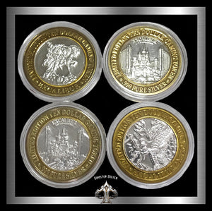 Excalibur Casino 1994 4 Piece Set Of Strikes LM Mint Marks - Sinister Silver Co.