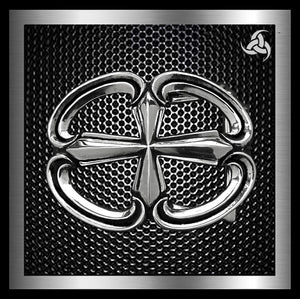 Sterling Silver Iron Cross Biker Belt Buckle - Sinister Silver Co.