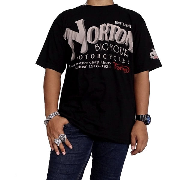 Large Mens Vintage Style Norton England Motorcycles Biker T Shirt - Sinister Silver Co.