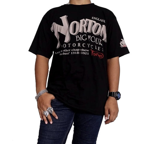 X-Large Mens Vintage Style Norton England Motorcycles Biker T Shirt - Sinister Silver Co.