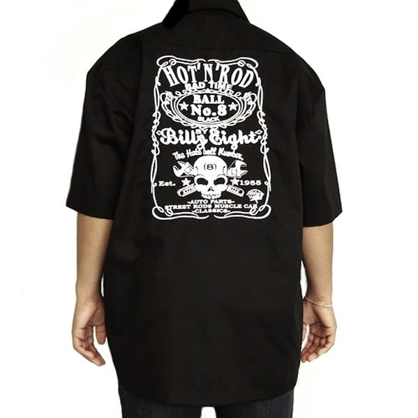X-Large Black Embroidered Garage Shirt Billy Eight Street Rod Builders