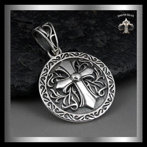 Biker Celtic Cross Pendant Sterling Silver Knights Templar Jewelry - Sinister Silver Co.