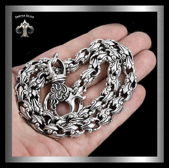 Sterling Silver Biker Wallet Chain Tribal Link - Sinister Silver Co.