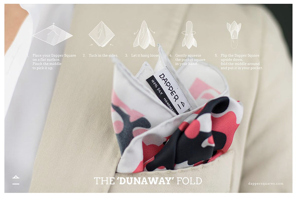 Foldonomy of the pocket square - the dunaway fold