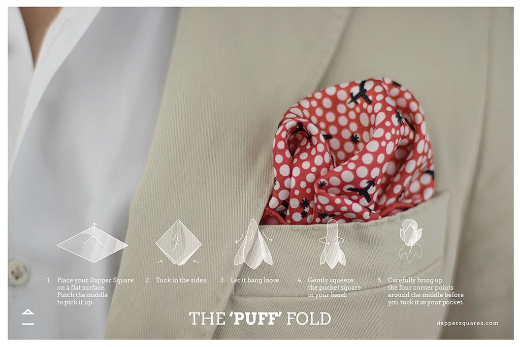puff fold pocket square fold