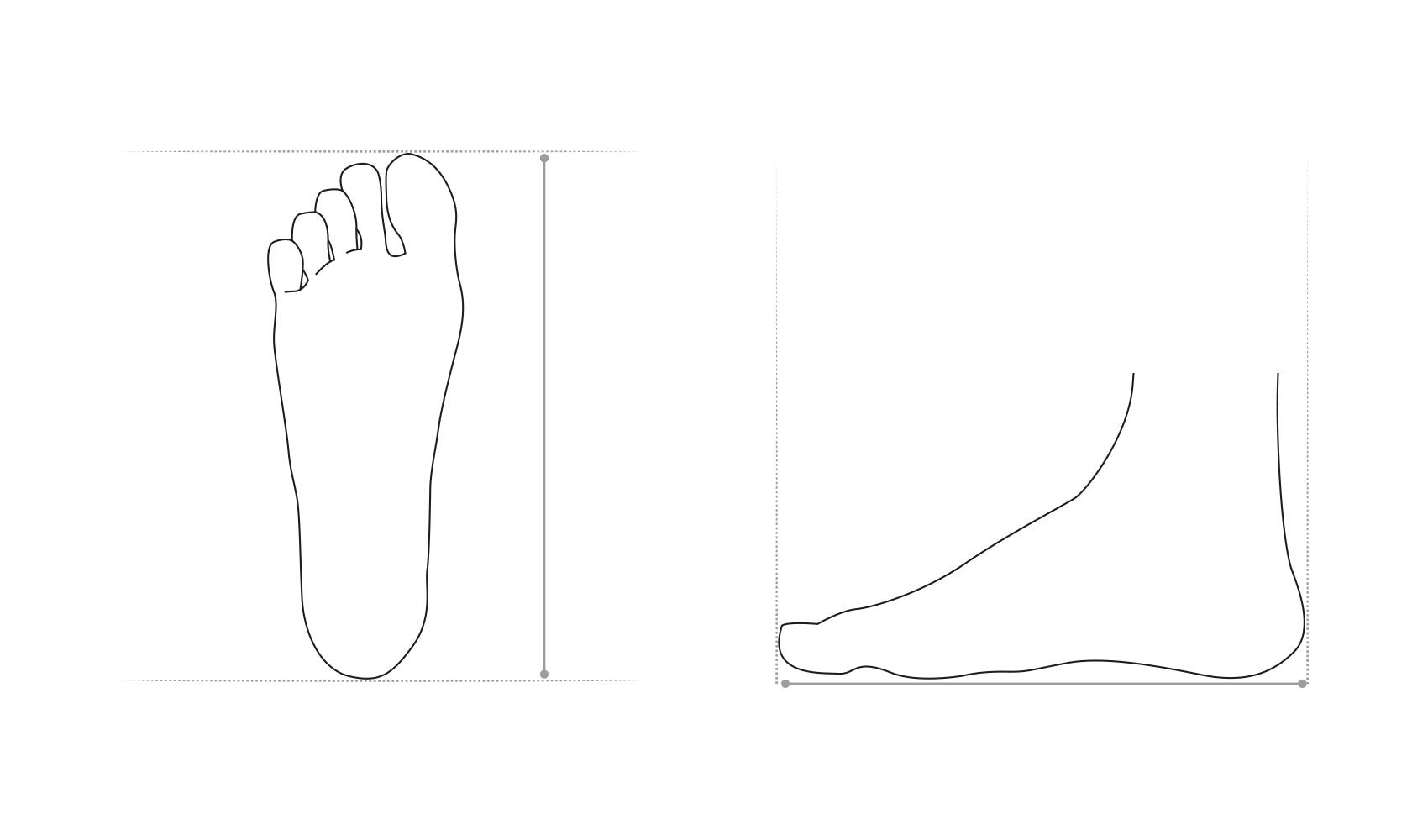 Heel To Toe Measurement