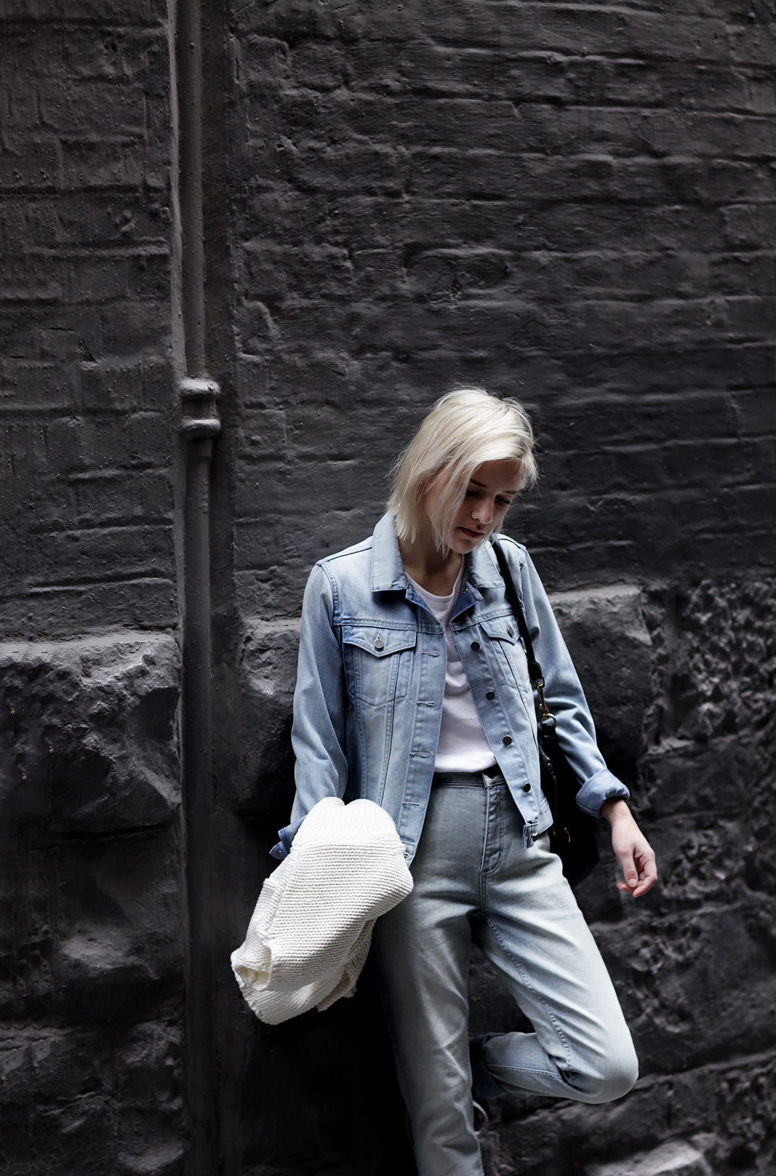 womens pale blue denim