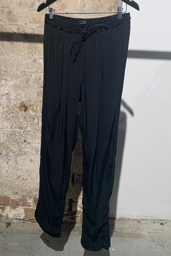 WOMENS BLACK COOLEN VISCOSE PANTS