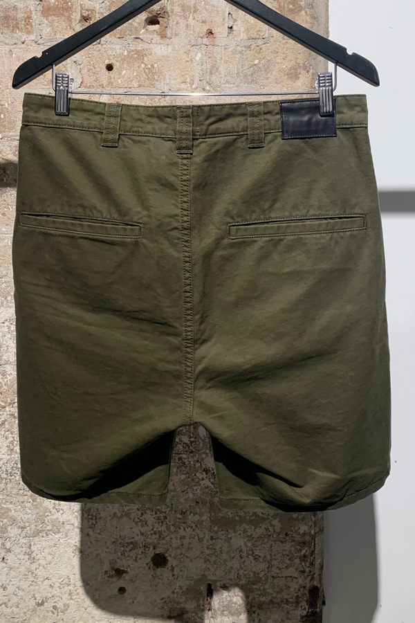 MENS KHAKI NIJIMA SLIM STRAIGHT COTTON SHORTS