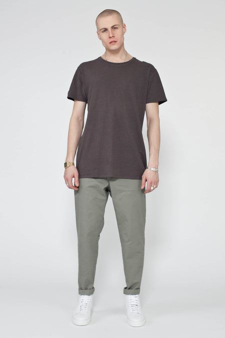 MENS NAVY SLIM STRAIGHT CHINO