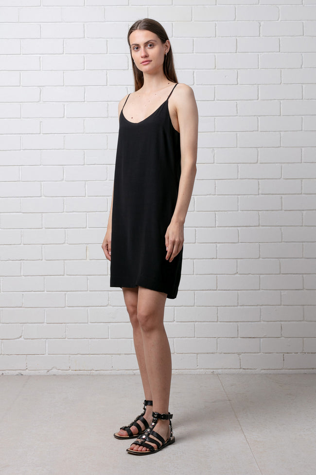 KALA SLIP DRESS - BLACK