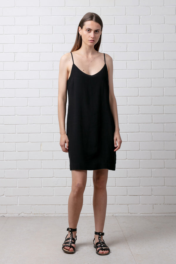 Black KALA SLIP DRESS