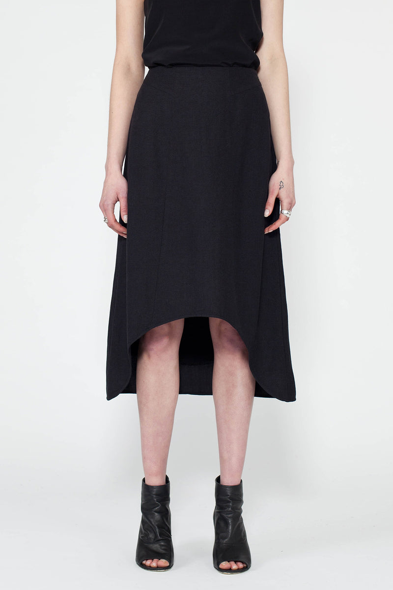 Black Kiyoko Asymmetric Skirt
