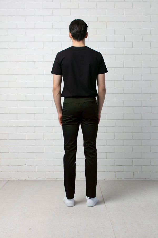 KHAKI SKINNY STRETCH COTTON CHINO - Nique Clothing