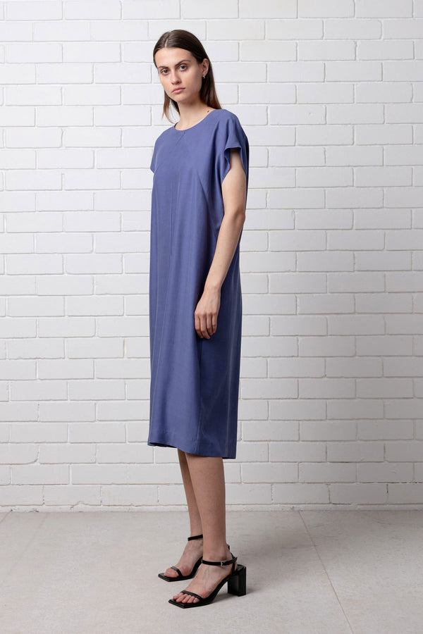 Blue Waking Day Shift Dress