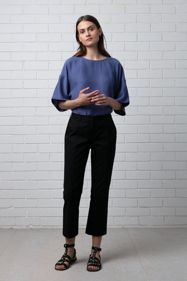 Black Miho Bootcut Trousers